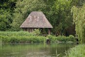 Fishing hut on River Test, Hampshire