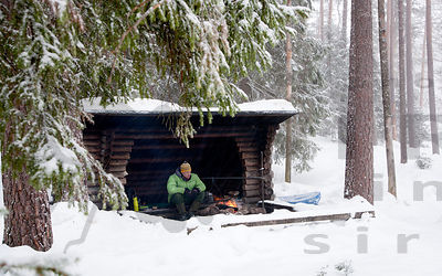 Lean-to Shelter in Kuorejärvi