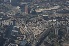 Middlewood Lock developments and the construction of the new Ordsall Chord Rail Link Salford Manchester
