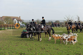 The Staff College and RMA Sandhurst Drag Hunt meet at Paley Street, Hampshire 20th March 2011.