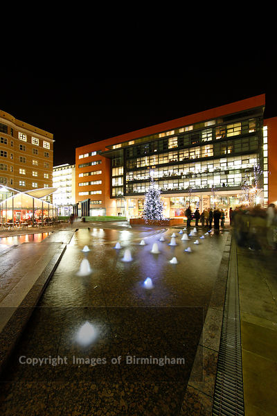 Central Square at Brindleyplace at Christmas.