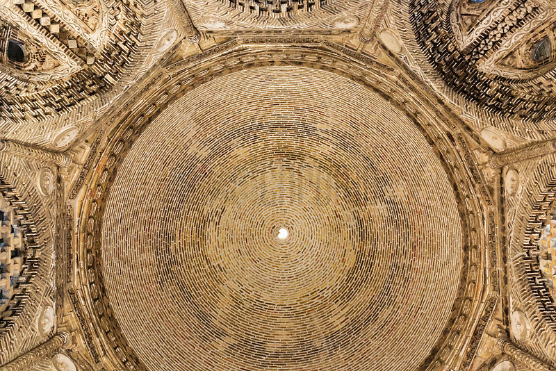Interior of the Dome of the Mausoleum of Ismoil Samonyi
