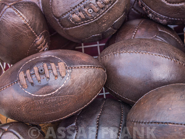 Close-up of Rugby balls