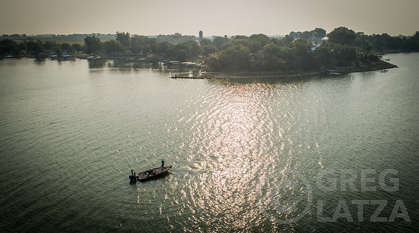 Aerial photo of Fisherman