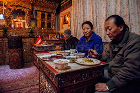 Nepal - Mustang Lo Manthang Royal Palace Dinner