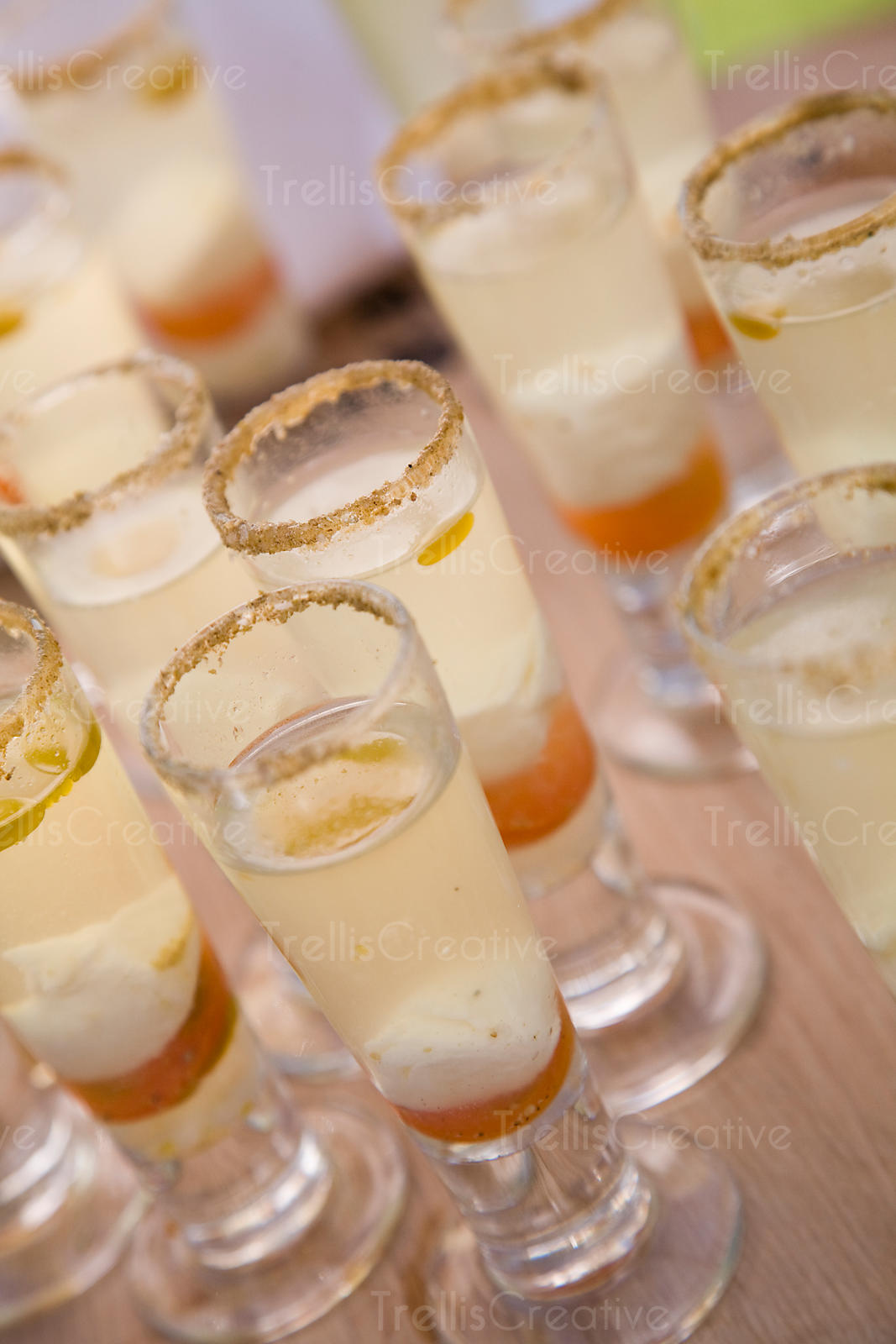 Cherry tomato and cheese shooters
