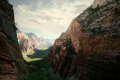 Virgin River Canyon from Angel's Landing, Zion National Park, Utah