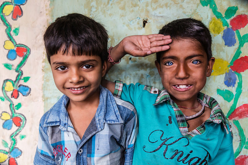 Children in New Delhi Slum