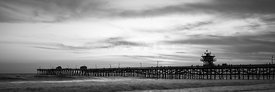 Orange County Pier San Clemente Black and White Panoramic Photo