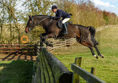 Nicky Hanbury jumping a fence. Quorn Hunt Opening Meet 2018