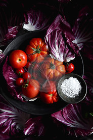 Tomatoes, Radicchio and Sea Salt