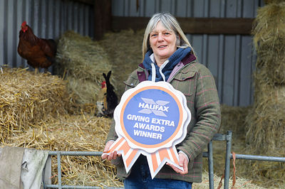 Halifax Giving Extra Awards..Judi Burrage of Brambles Therapeutic Farm, Bedingham, Norfolk...Photography by Jason Bye.t:  079...