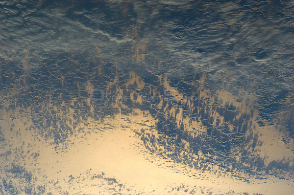Sunglint Over South America (NASA, International Space Station, 05/15/12) Sunglint and clouds off Western South America
