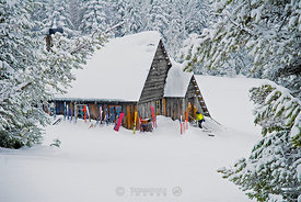 Mountain warming hut