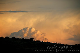Highveld sunset with cumulonimbus clouds