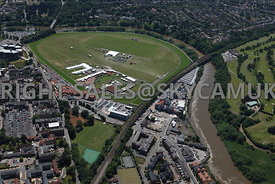 Chester high level aerial view of Chester Race Course