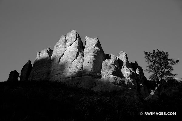 CONDOR GULCH TRAIL PINNACLES NATIONAL PARK CALIFORNIA BLACK AND WHITE