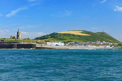 Aberystwyth castle & Pendinas from the sea