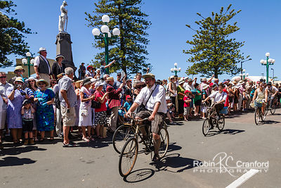 Art Deco Saturday 2012 - Vintage Car Parade.  Bicycles
