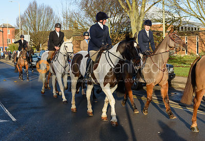 Jodie Lee, Jessica Saunders - Boxing Day Meet of the Cottesmore Hunt, Oakham 26/12