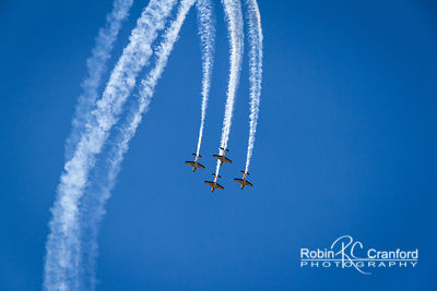 Art Deco Saturday 2012.  Air Show.  New Zealand Airforce Red Checkers Aerobatic Team flying.