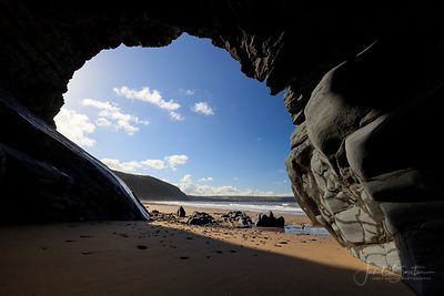 PENBRYN CAVES AND BEACH