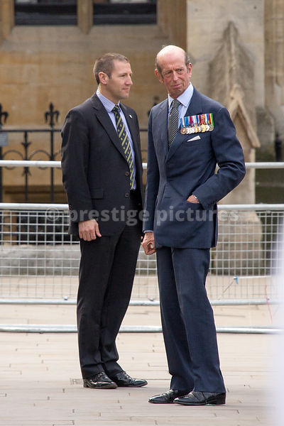 The Duke of Kent arriving at Westminster Abbey