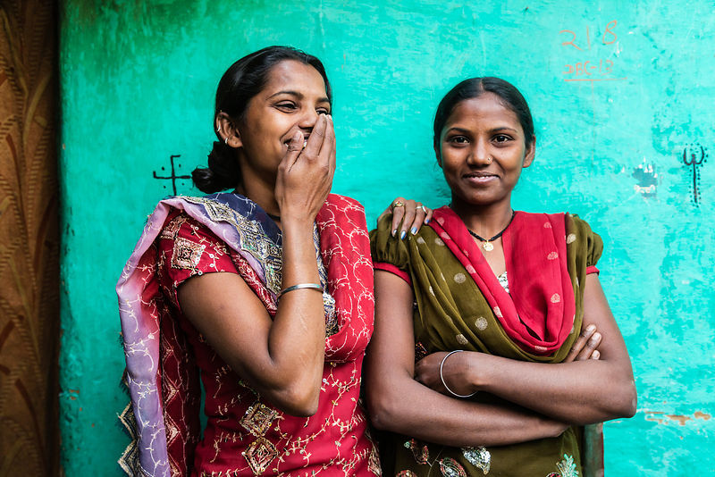 Portrait of Young Women in New Delhi Slum