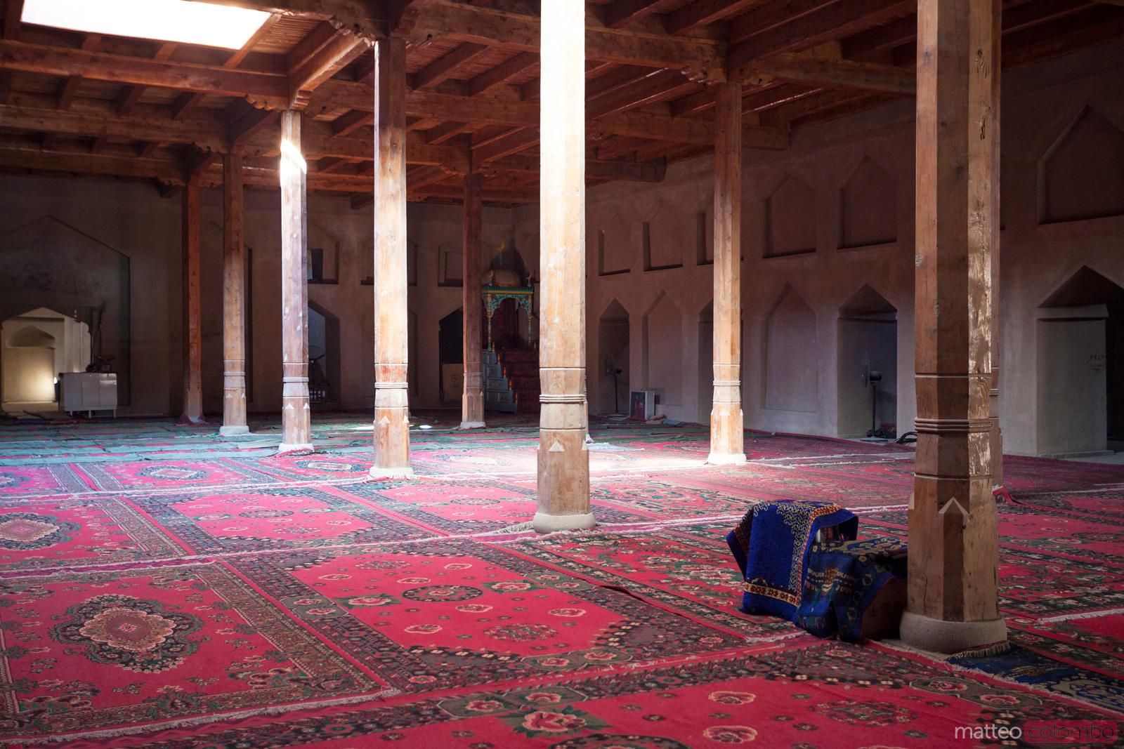 Inside islamic mosque, Xinjiang, China