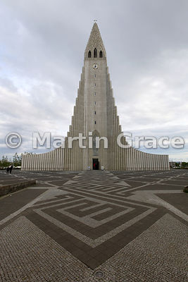 Exterior of Hallgrimskirkja, Reykjavik's memorial church, consecrated in 1986
