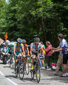 Group of Cyclists on Col du Granier - Tour de France 2012