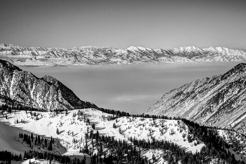 View from Snowbird Tram Station, Utah.