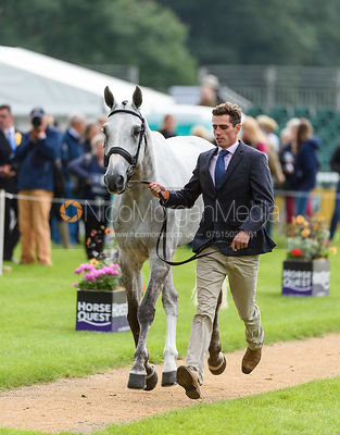 Hector Payne and DYNASTY at the trot up, Land Rover Burghley Horse Trials 2018