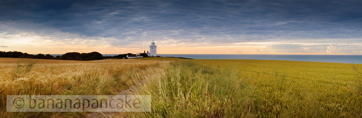 South Foreland lighthouse, the White Cliffs of Dover, Kent, England, UK.
