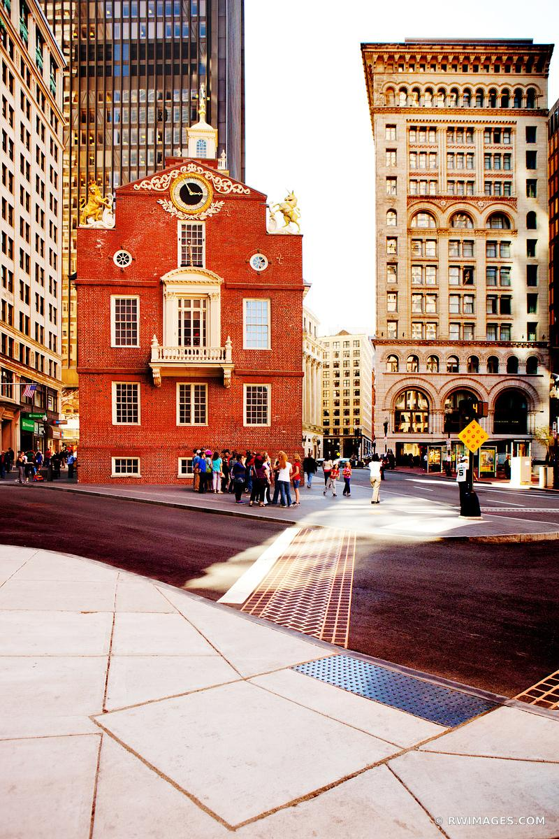 HISTORIC BOSTON ARCHITECTURE DOWNTOWN OLD STATE HOUSE COLOR VERTICAL