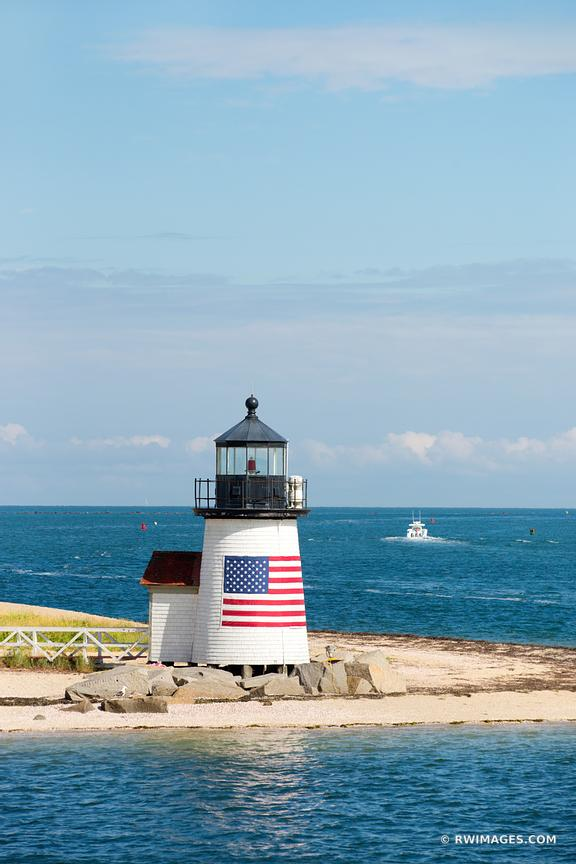BRANT POINT LIGHT LIGHTHOUSE NANTUCKET COLOR VERTICAL