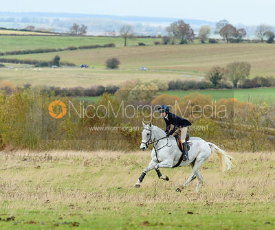 Charlotte Bell at Stone Lodge. The Cottesmore Hunt at Tilton