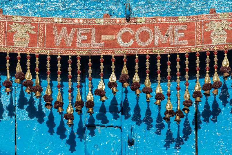 Welcome Bells above the Front Door of a Home