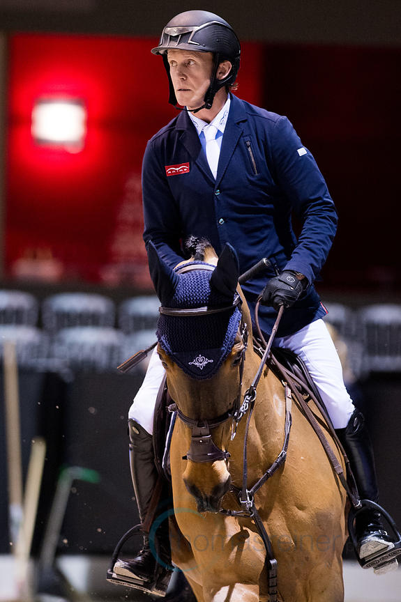 Bordeaux, France, 2.2.2018, Sport, Reitsport, Jumping International de Bordeaux - . Bild zeigt Cameron HANLEY (IRL) riding Ai...