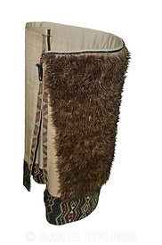 Maori cloak adorned with Kiwi feathers and worn by a Maori chief on ceremonial occasion New Zealand