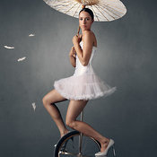 Lady on a unicycle