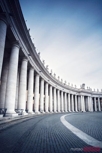 Colonnades in St. Peter's square