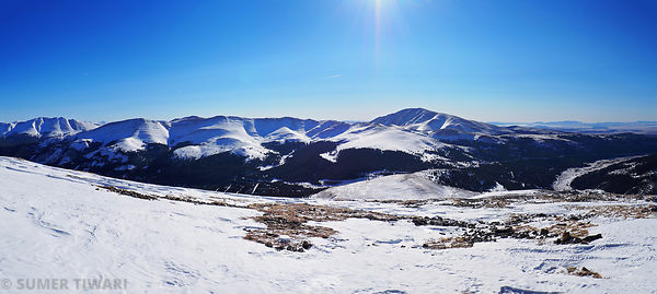 Northstar Mountain winter hike