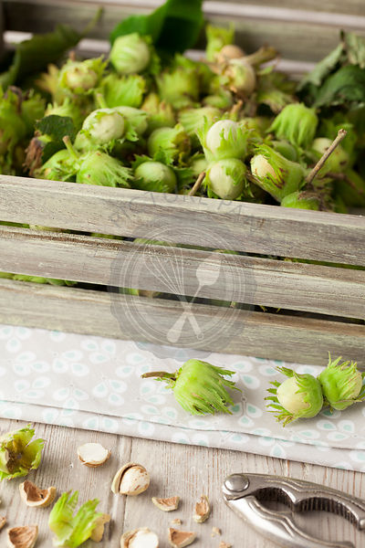 Homegrown Cobnuts in Wooden Box