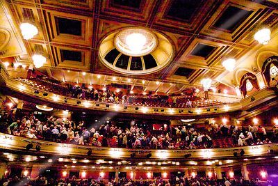Audience Leaving their Seats in the Balcony at the Festival Theatre Edinburgh
