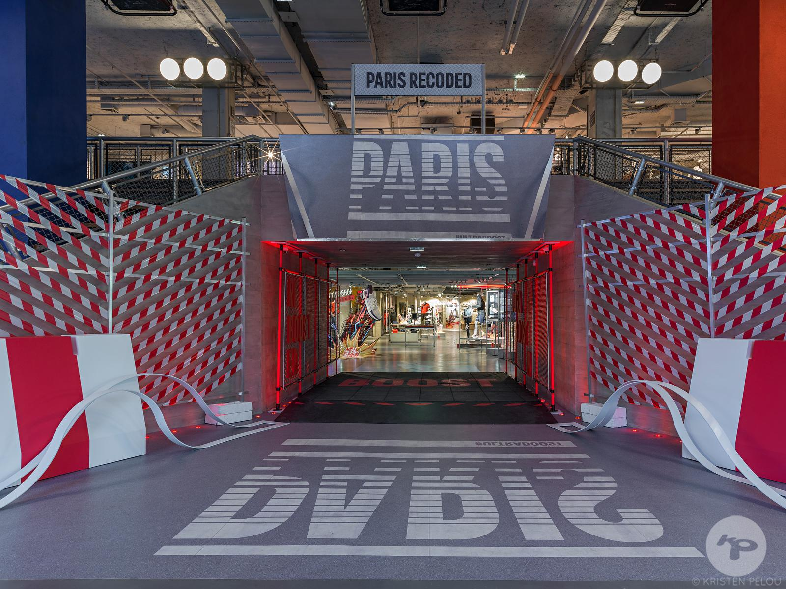 Retail architecture photographer - UltraBoost french launch campaign designed by Roundhouse Agency in the parisian Adidas Fla...