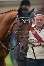 Manoir de Carneville - prizegiving ceremony - Land Rover Burghley Horse Trials 2012.
