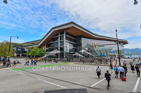 August 10, 2015: Vancouver BC. Vancouver Convention Centre on a sunny summer day. Photo by Scott Brammer - coastphoto.com