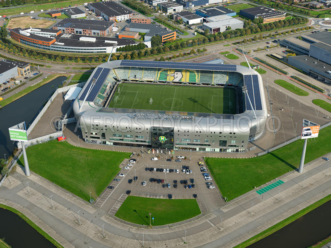 Aerial View The Cars Jeans Stadium The Hague Until May 2017 The Name Of The Home Stadium Of Football Club Ado Den Haag
