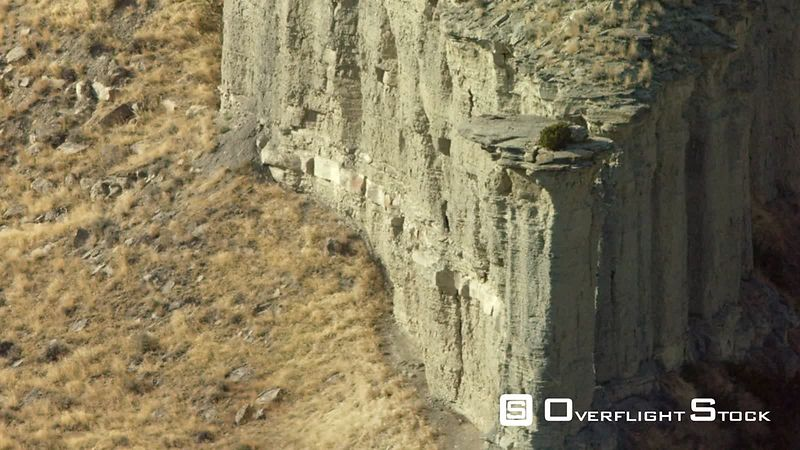 The rugged cliffs and valleys of the high desert near Billings, Montana